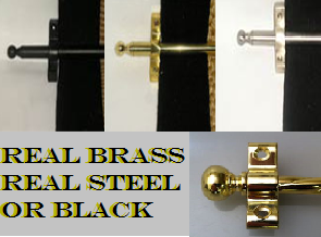 Real Brass Real Steel or Black