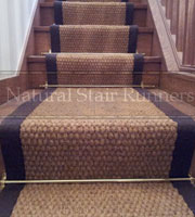 Coir Panama Rug with Brown border