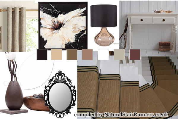 Designer Mood Board and Motif for Fall Jute Carpet